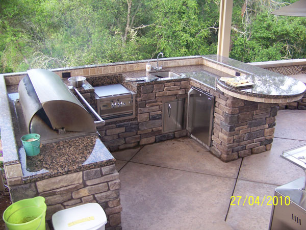 Custom outdoor kitchens sacramento for Custom outdoor bbq kitchens