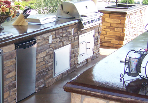 Outdoor Kitchen Countertops Concrete