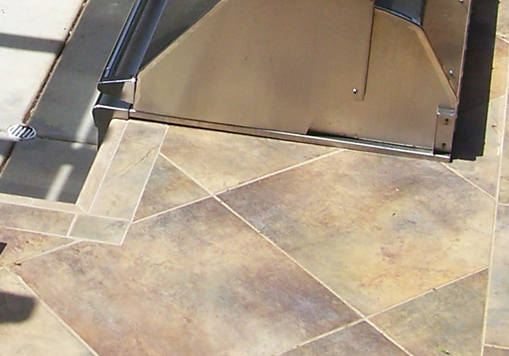 Custom Outdoor Kitchen Tile Countertop