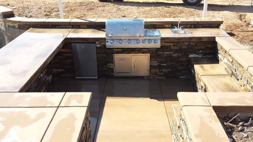 in ground outdoor kitchen Sacramento