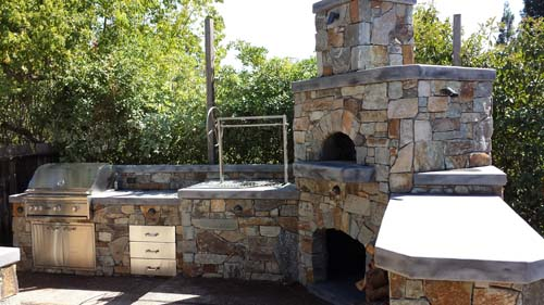 Outdoor Pizza Oven, BBQ Island Sacramento, Custom Pizza Oven