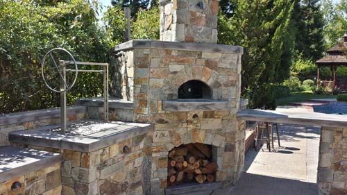 outdoor kitchen pizza oven design. outdoor pizza oven bbq island sacramento kitchen design