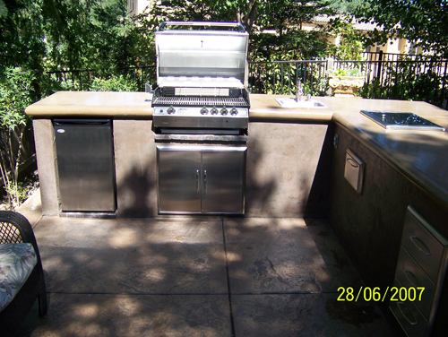Built in BBQ, Fridge, Oven | Outdoor Kitchens Sacramento, CA