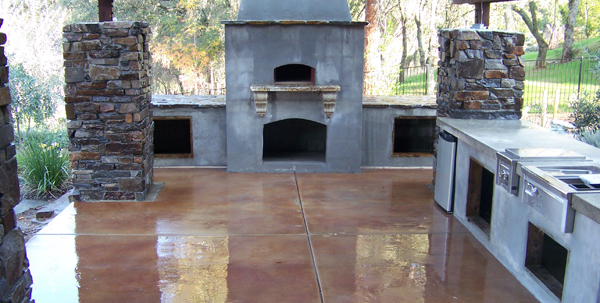 wood fire oven outdoor kitchen sacramento